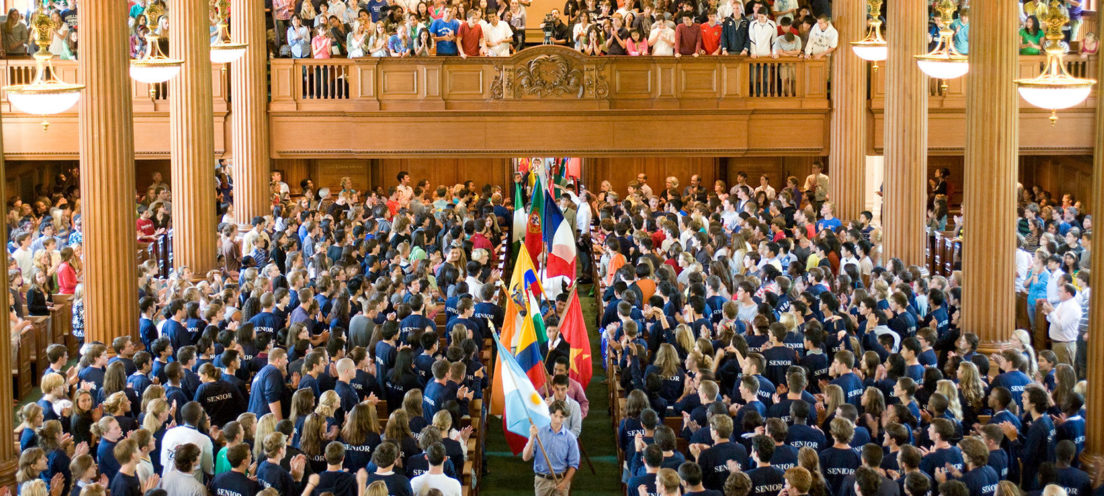 All school meeting in the chapel