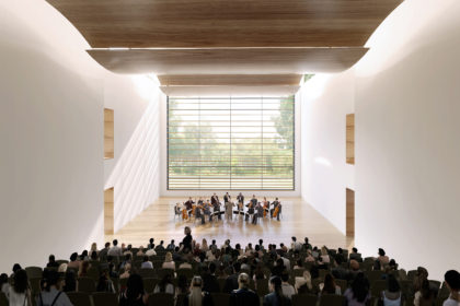 Rendering of orchestra in new music building