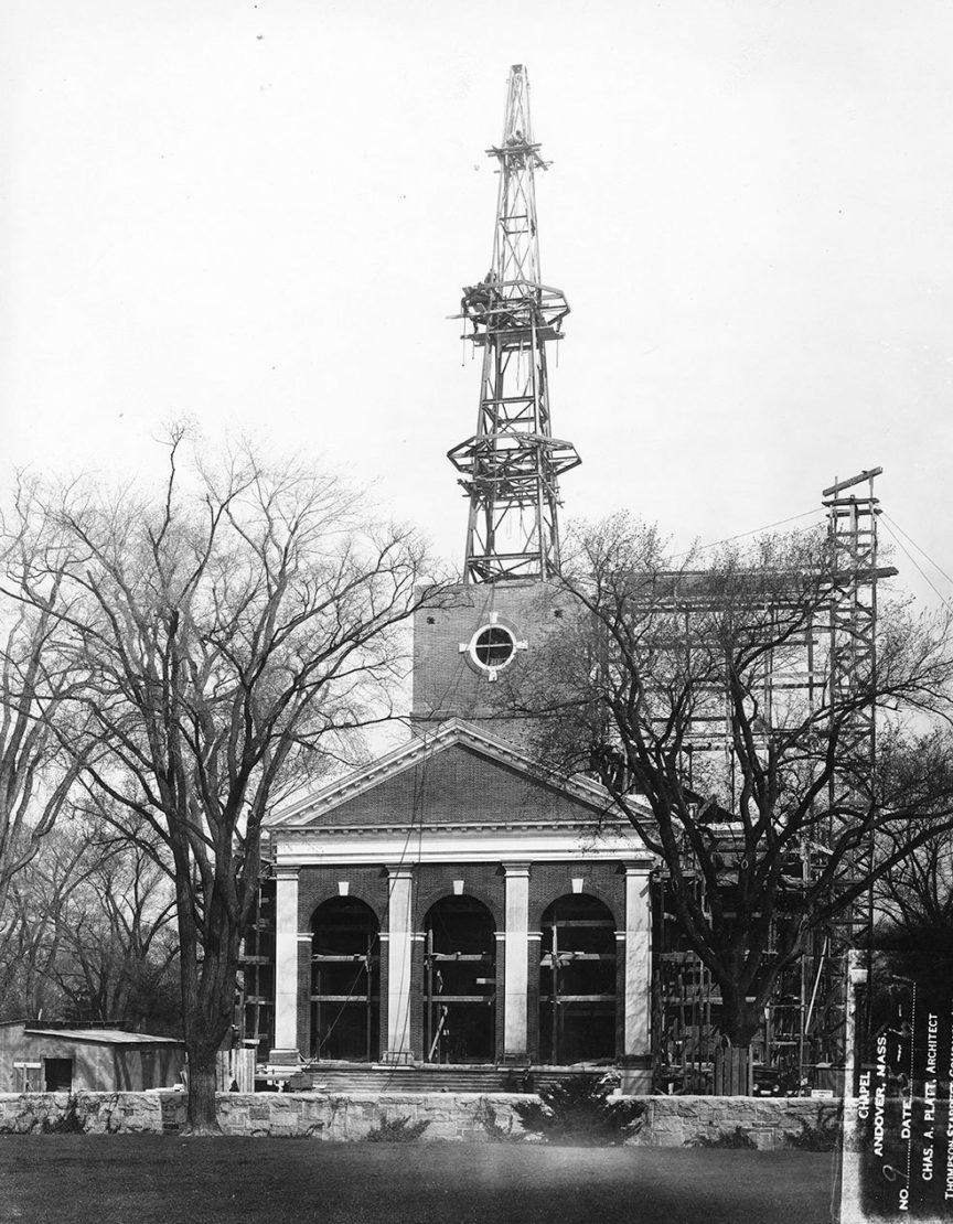 Cochran Chapel construction
