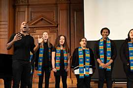 Gospel Choir performs