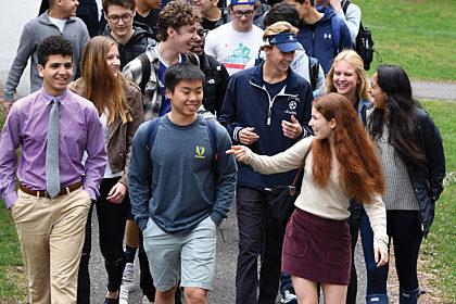 Students Walking