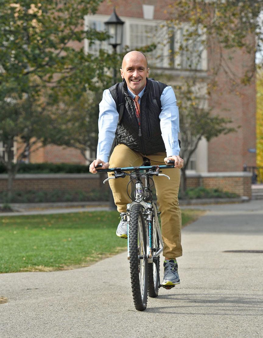 Paul Murphy at the bike rack