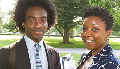 Two IRT Students Smiling