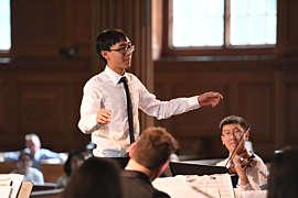 Student conducting
