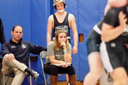 head wrestling coach Kassie Archambault '06