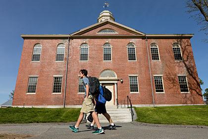 kids walking on campus